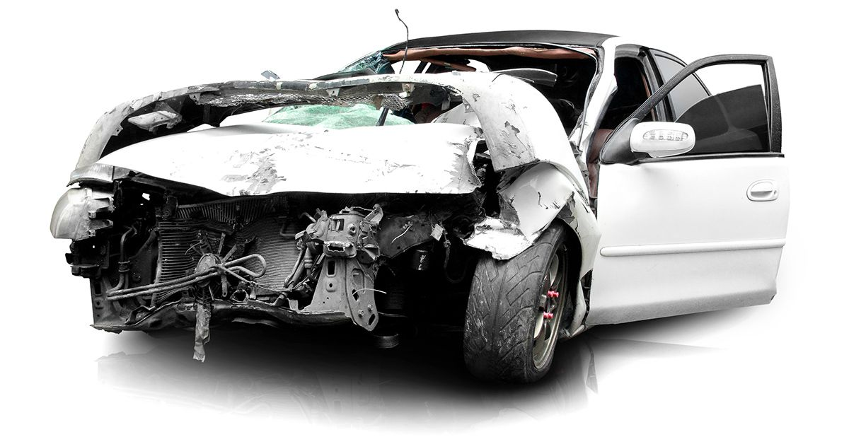 Wrecked Car After Accident