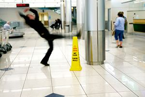 Slip Fall Accident in Airport Terminal